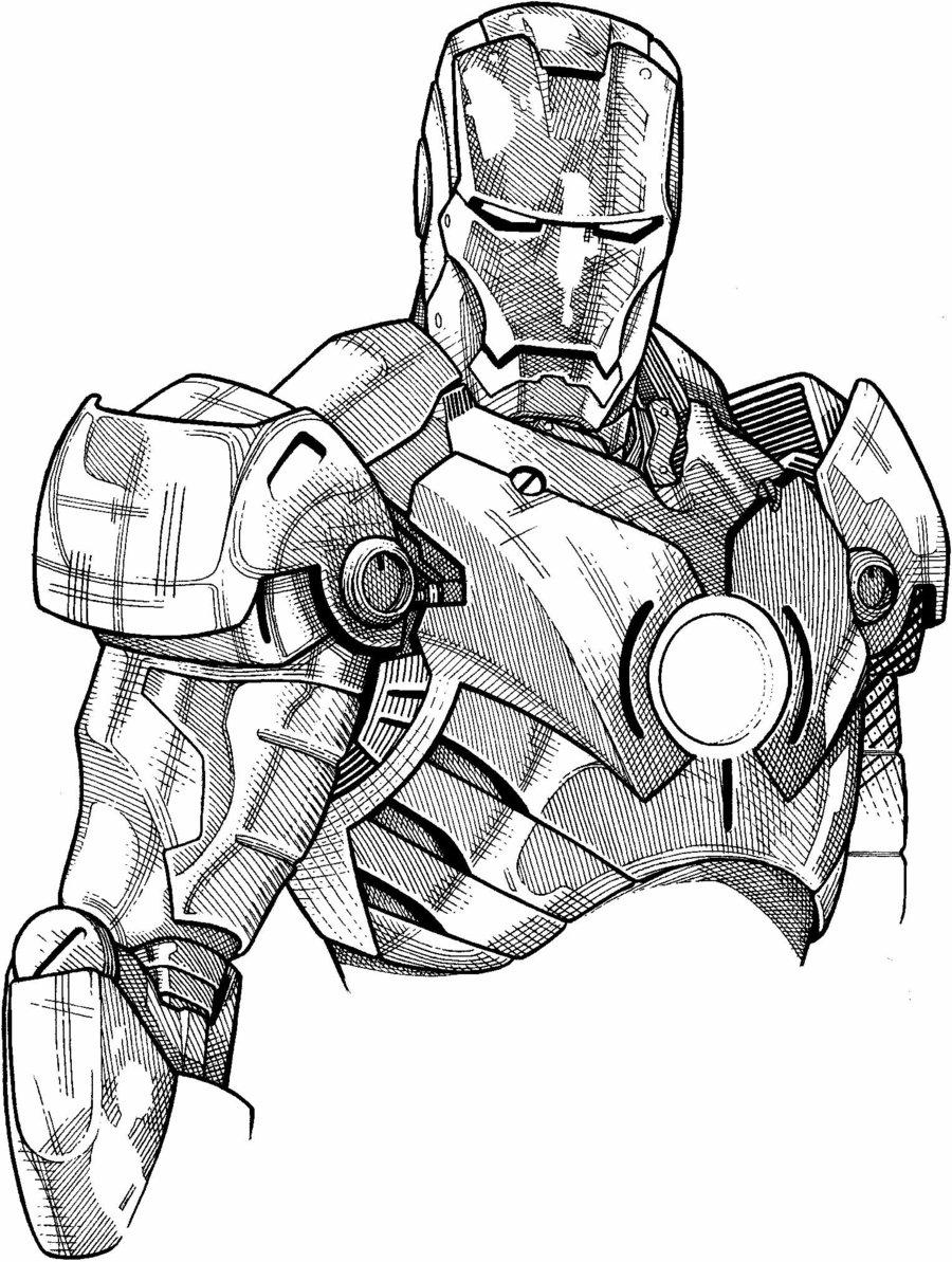 dessin iron man a imprimer gratuit