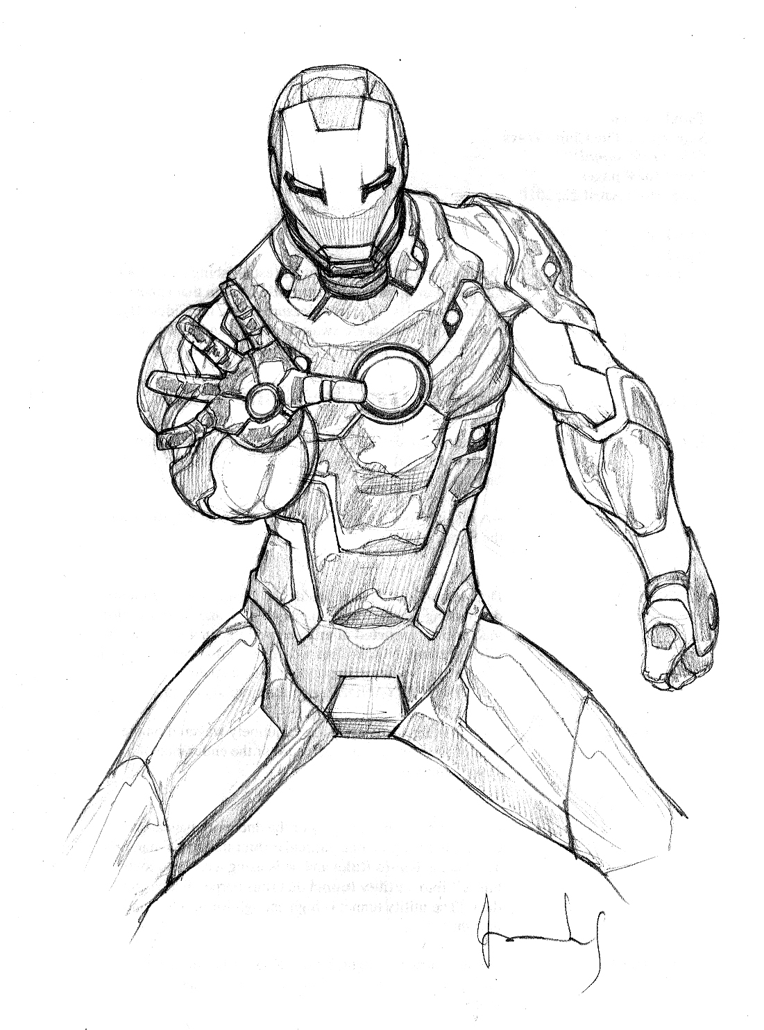 Coloriages imprimer Iron Man