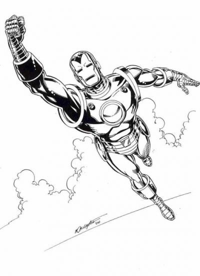 Coloriages imprimer Iron Man num ro 8609