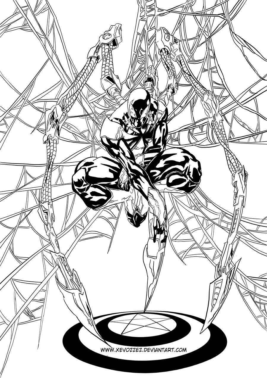 Free Spiderman And Iron Man Coloring Pages