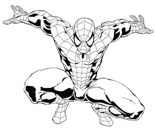 coloriage imprimer personnages clbres comics spiderman numro 4563