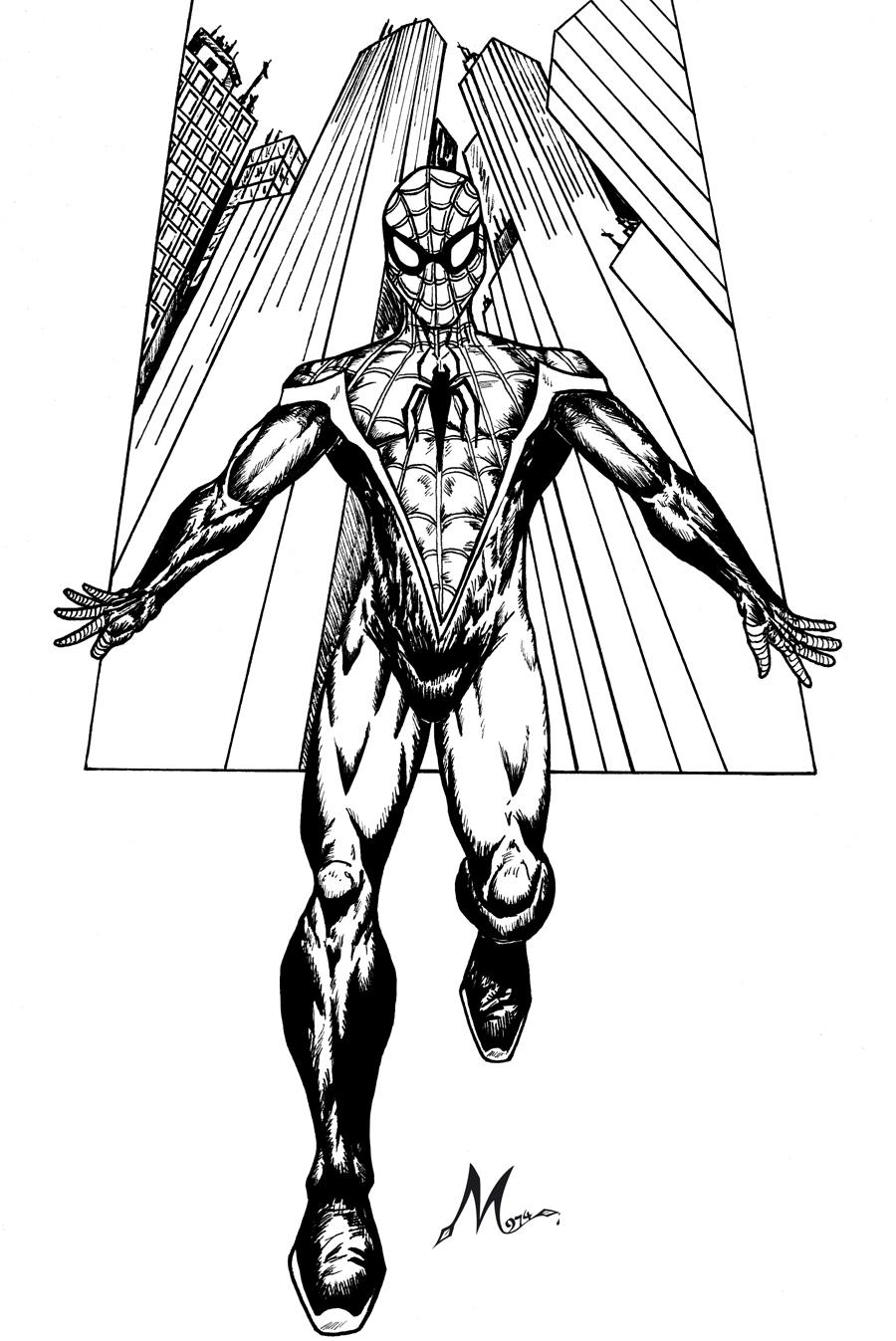 Coloriages imprimer spiderman num ro 672600 - Coloriage petit spiderman ...