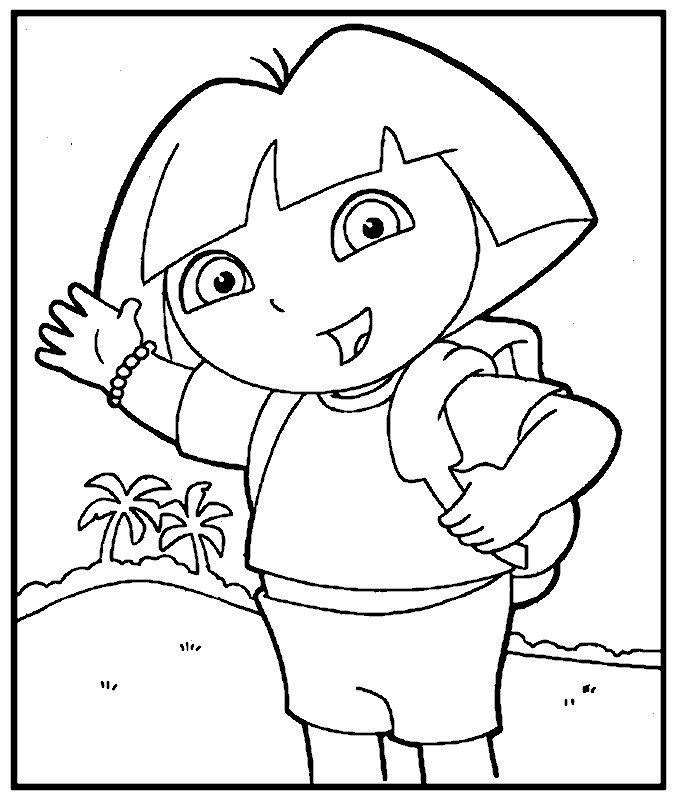 Coloriages à imprimer : Dora, numéro : 27868