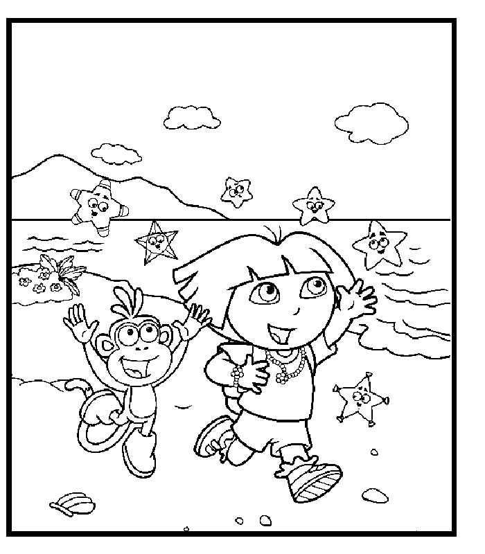 Coloriages à imprimer : Dora, numéro : 722