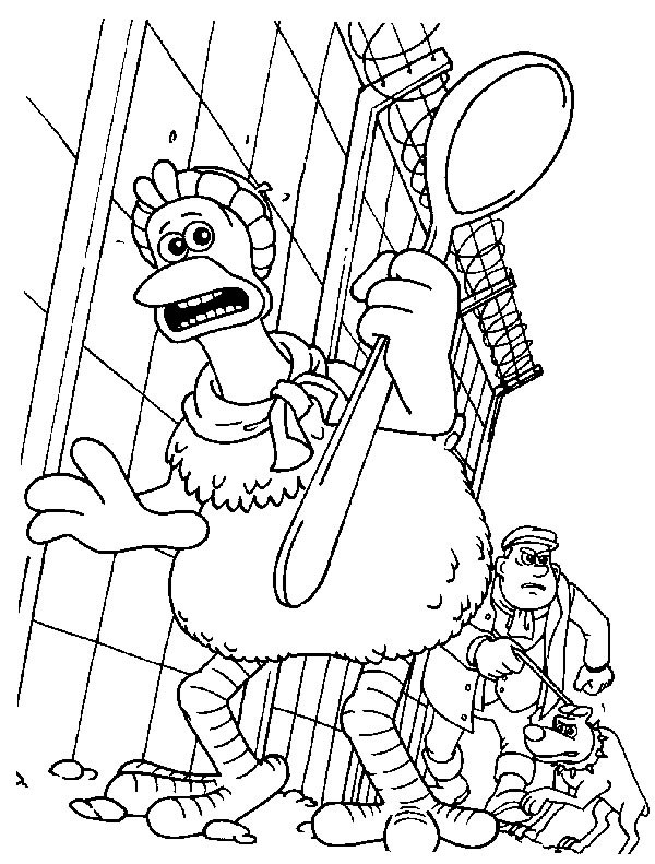 Chicken run free colouring pages for Dreamworks coloring pages