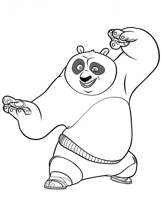 Coloriage à imprimer : Personnages célèbres - DreamWorks - Kung Fu Panda numéro 561582