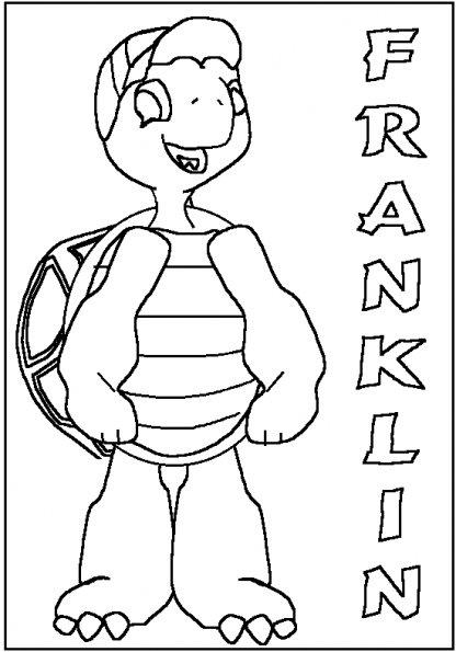 Coloriages à imprimer : Franklin, numéro : 5010