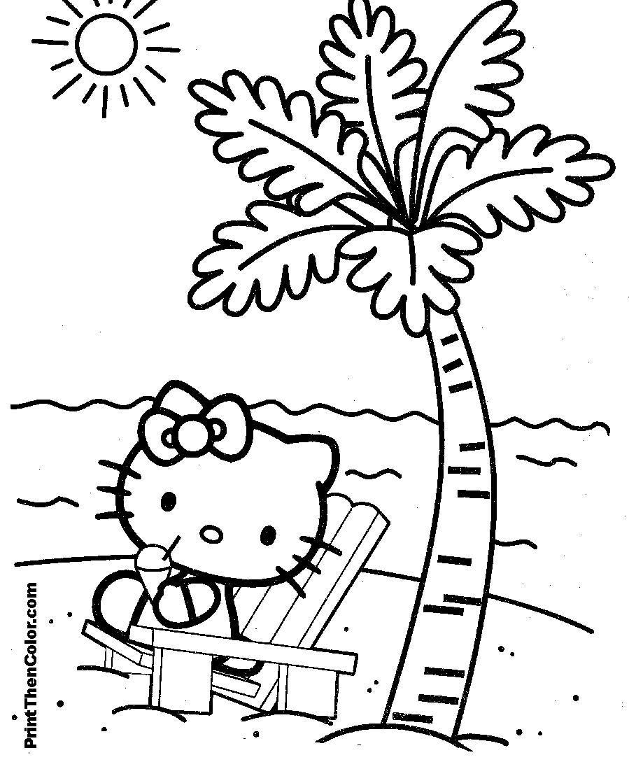 Coloriages à imprimer : Hello Kitty, numéro : 16455