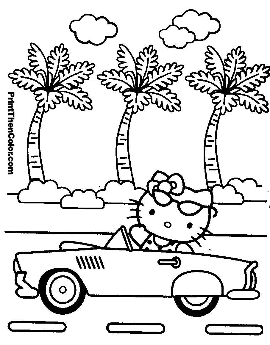 Coloriages à imprimer : Hello Kitty, numéro : 16472