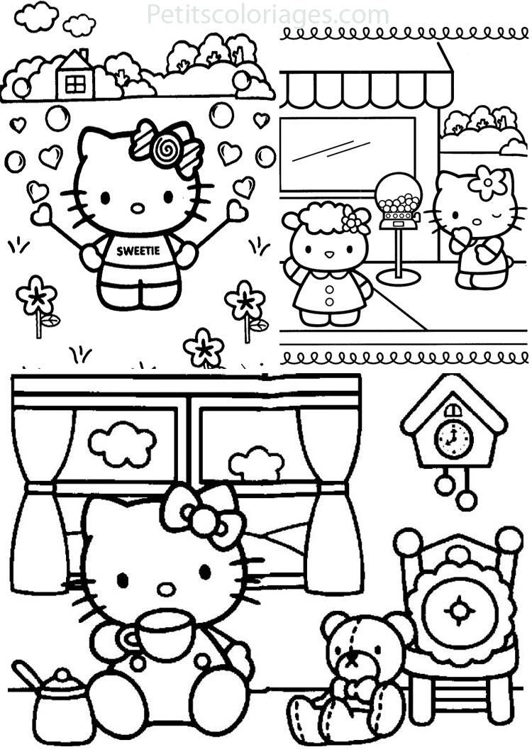 Coloriages à imprimer : Hello Kitty, numéro : 1e1ead4d