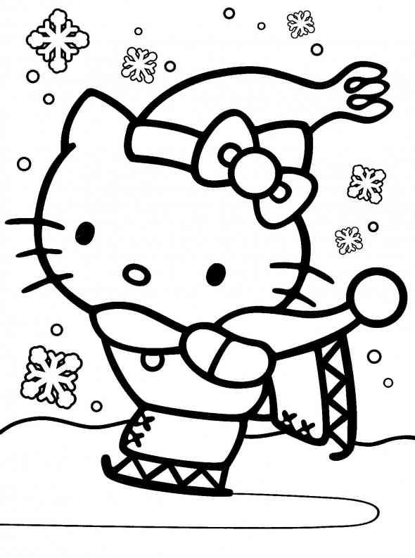 Coloriages à imprimer : Hello Kitty, numéro : 266936