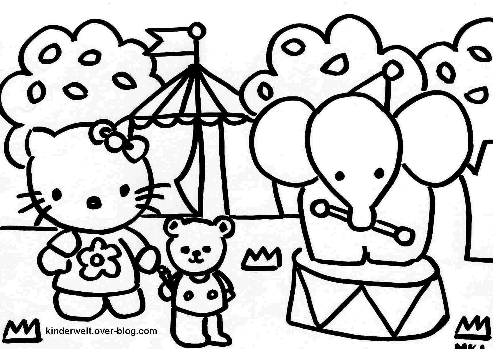 Beau Dessin Imprimer Hello Kitty Princesse