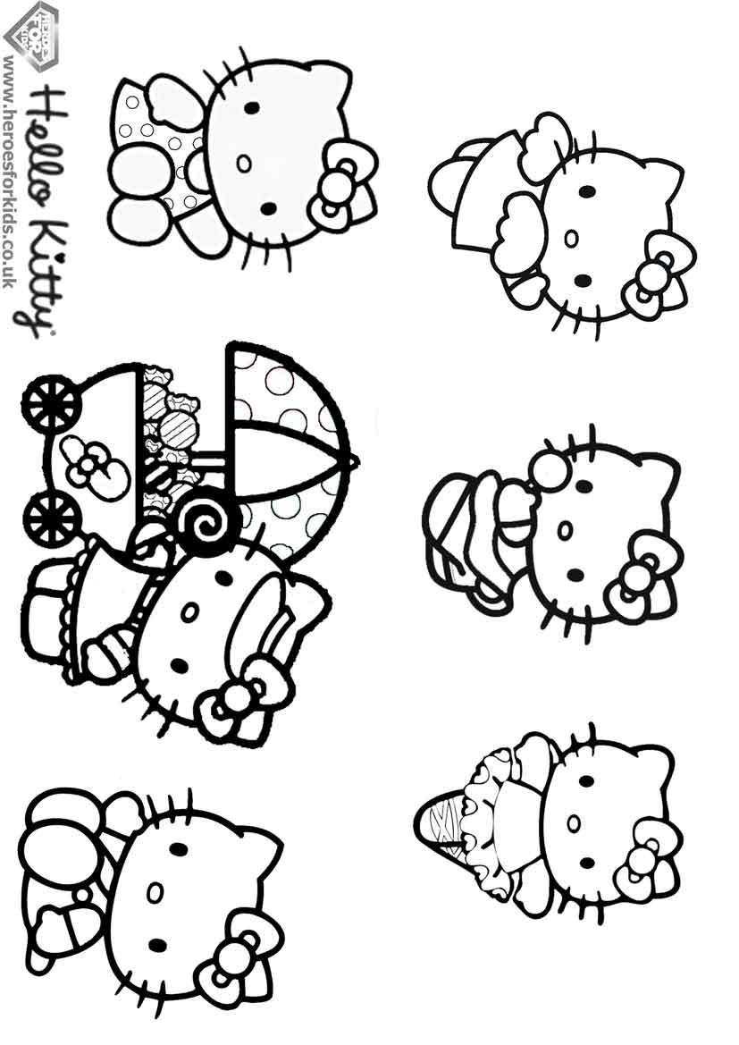 Coloriages à imprimer : Hello Kitty, numéro : 4612
