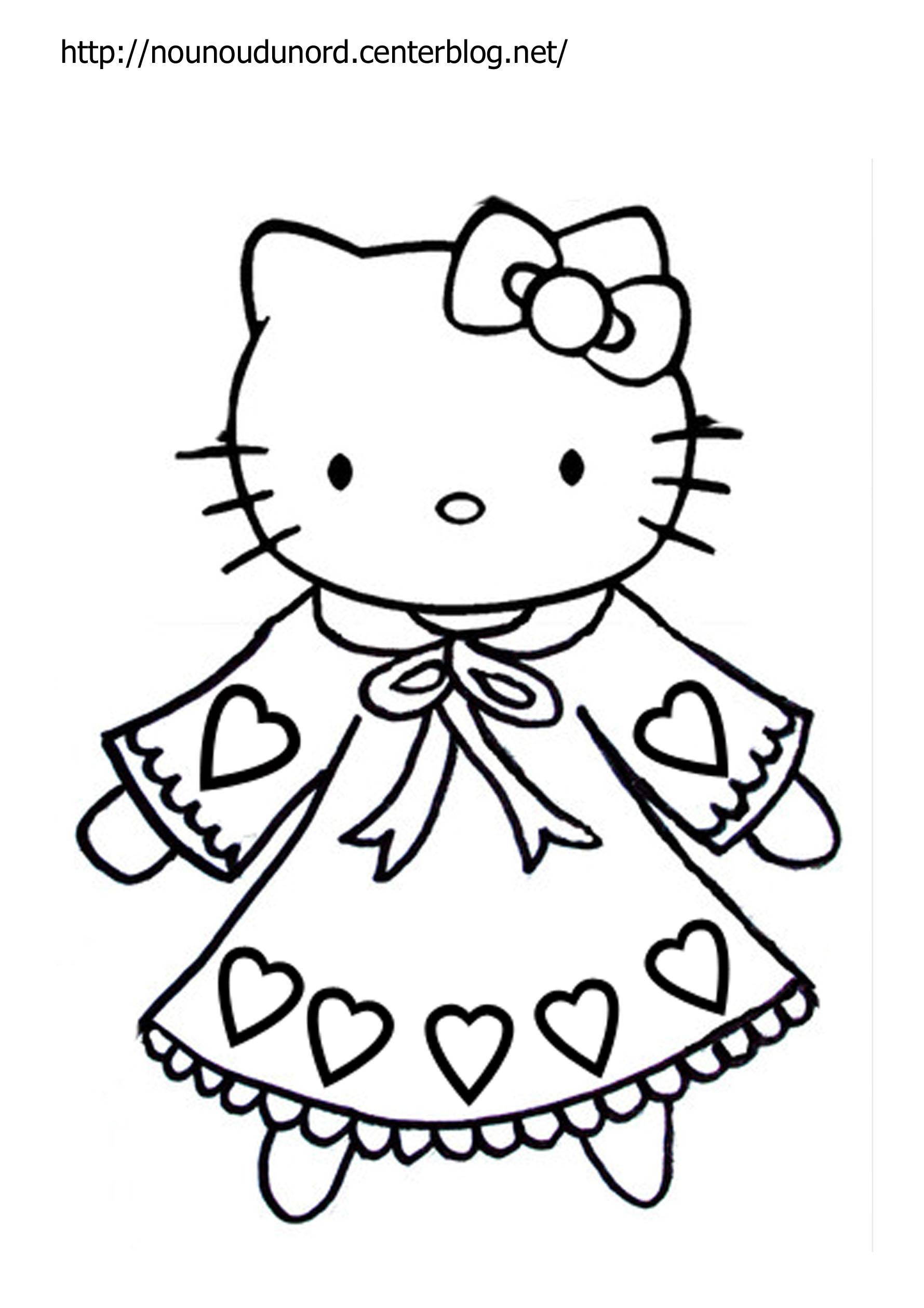 Coloriages à imprimer : Hello Kitty, numéro : 5304b07f