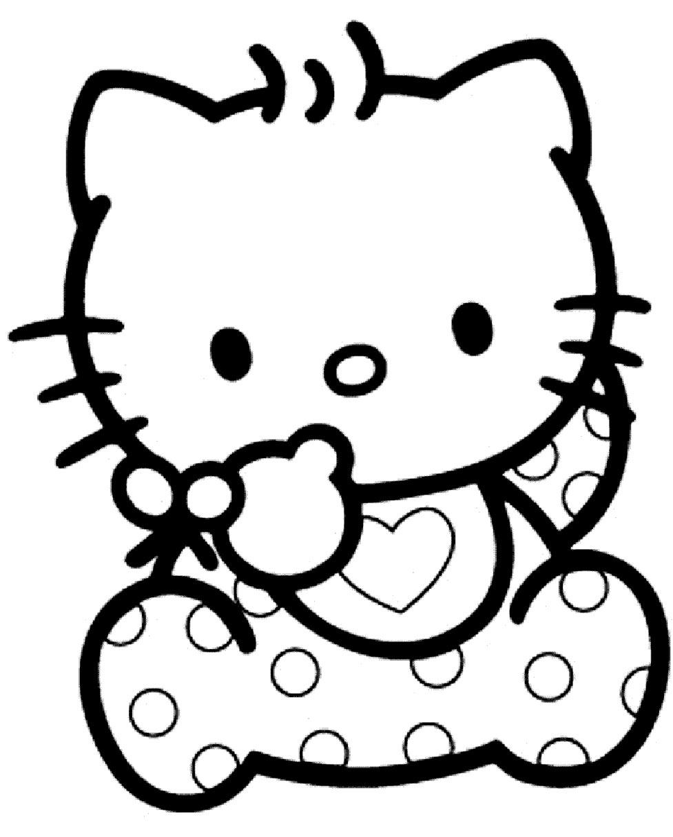 Coloriages à imprimer : Hello Kitty, numéro : 558954