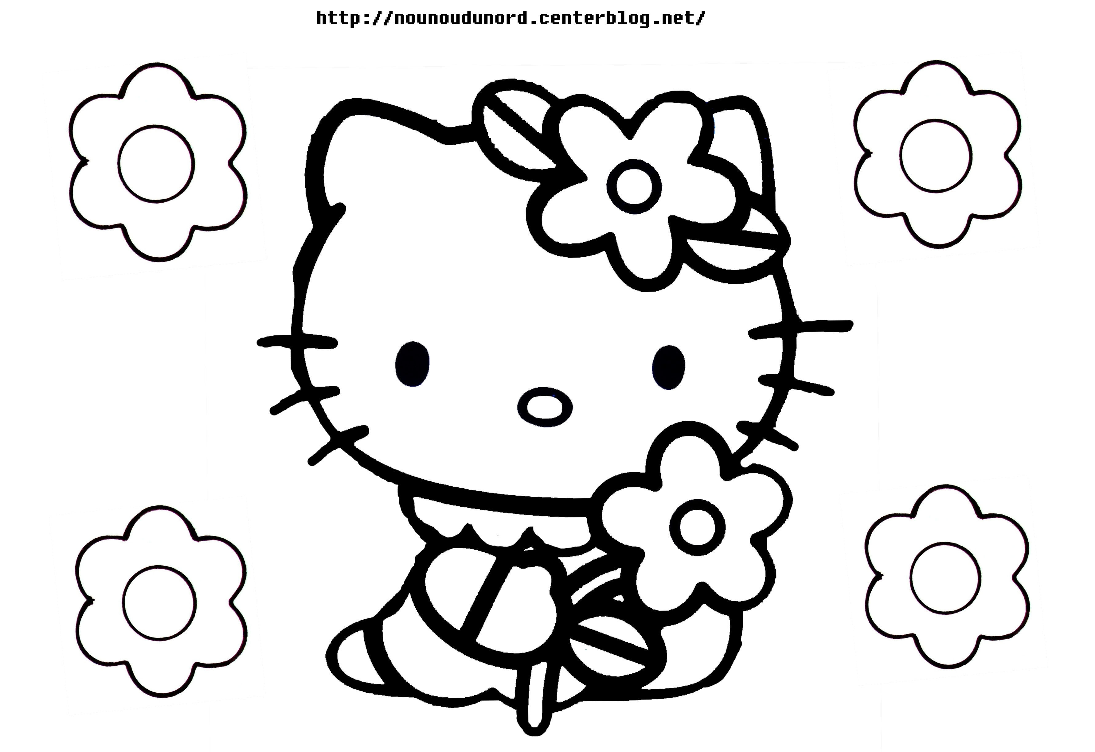 Coloriages à imprimer : Hello Kitty, numéro : 5fa9f8c3