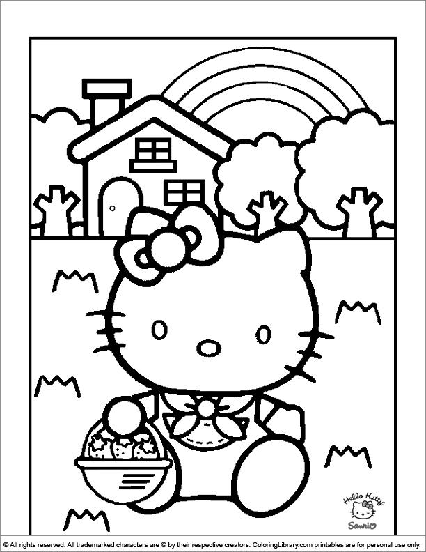 Coloriages à imprimer : Hello Kitty, numéro : 627338