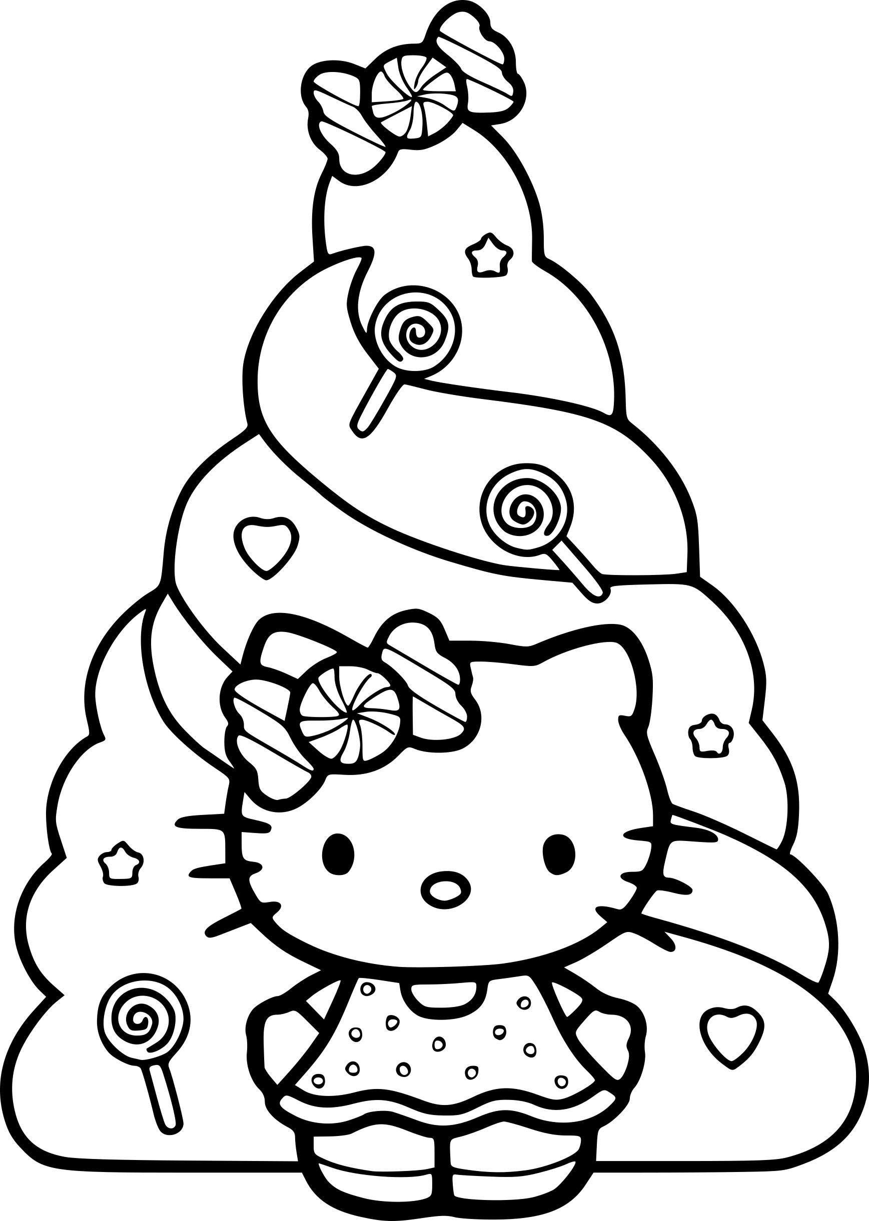 Coloriages à imprimer : Hello Kitty, numéro : 6da84ba8
