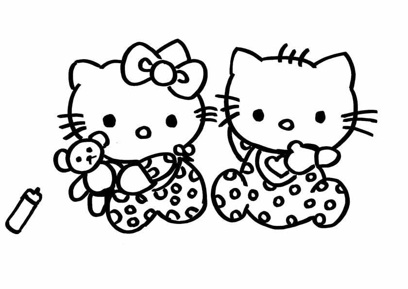 coloriages 224 imprimer hello kitty num233ro 754983