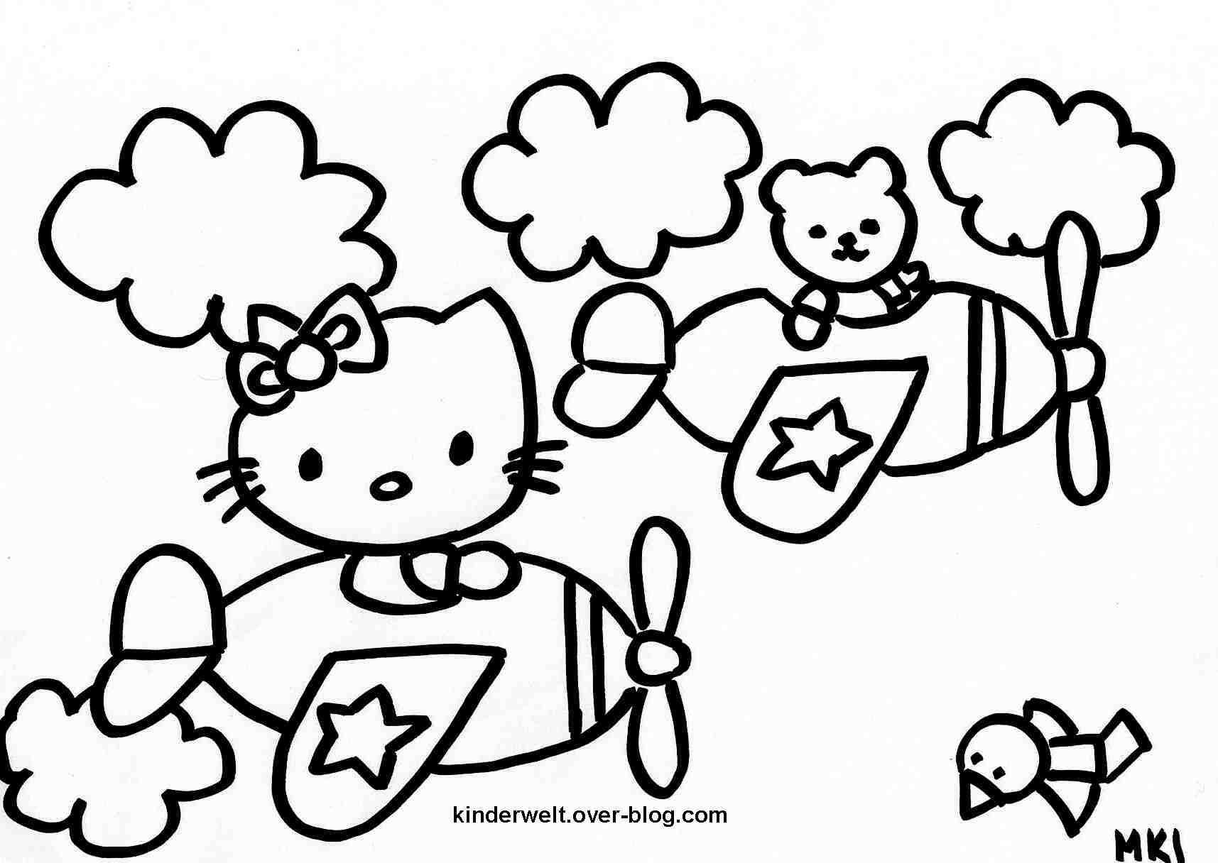 Coloriages à imprimer : Hello Kitty, numéro : 8637