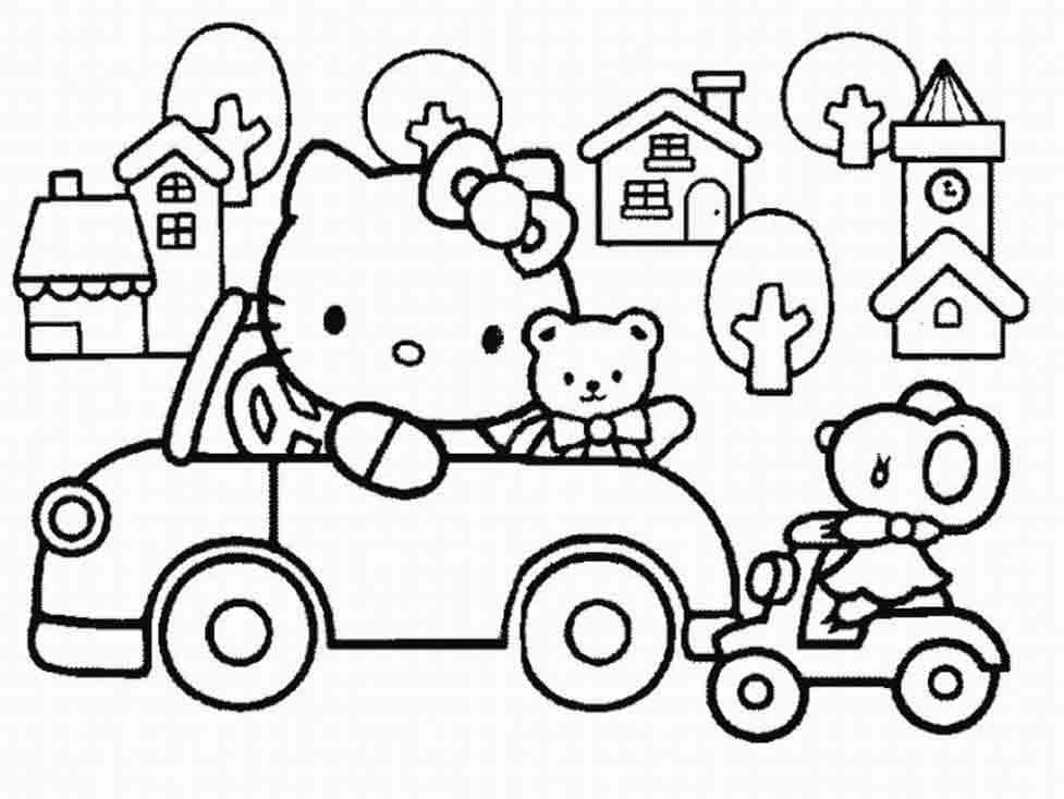Coloriages à imprimer : Hello Kitty, numéro : 8652