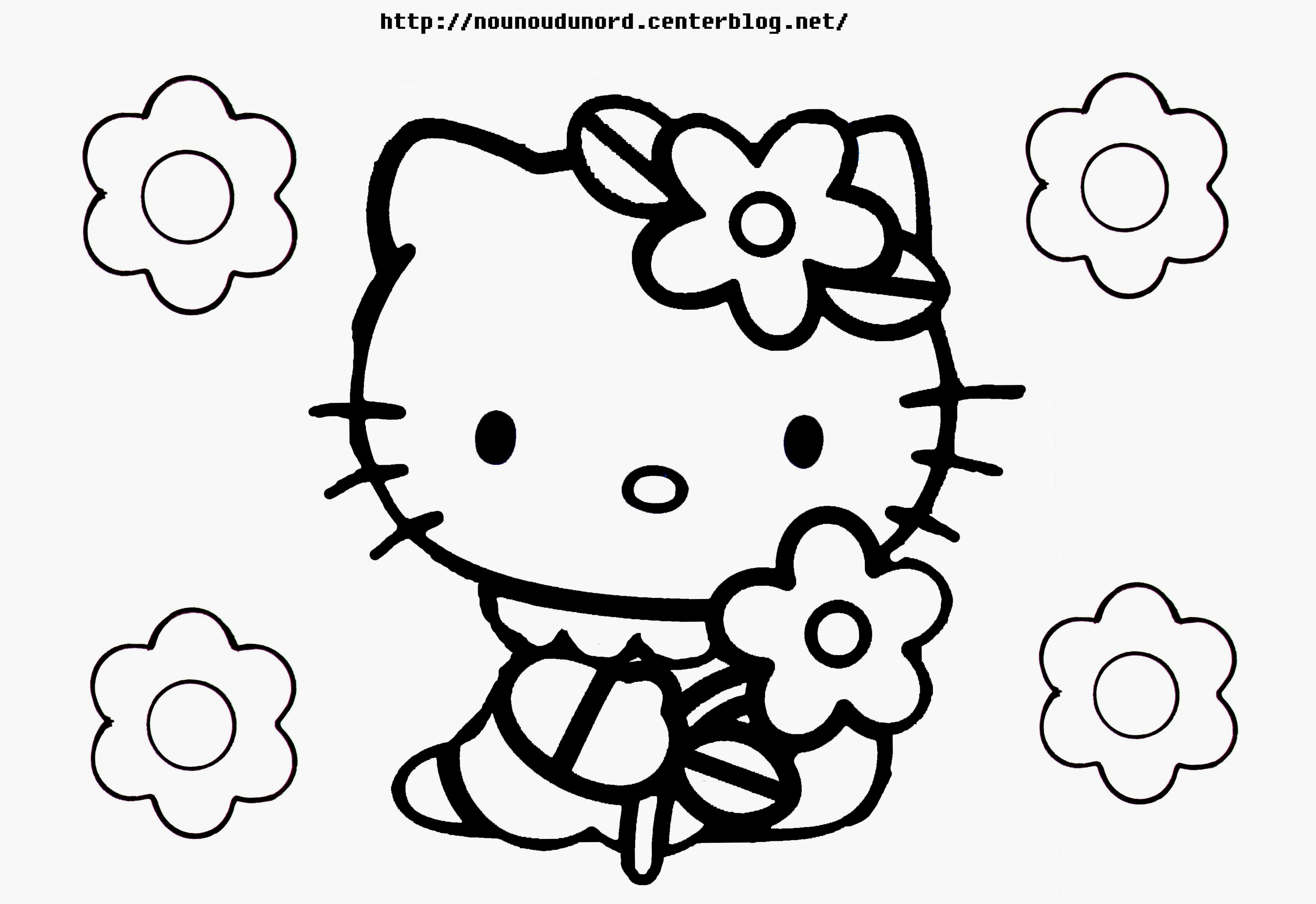 Coloriages à imprimer : Hello Kitty, numéro : fe8f1bbe