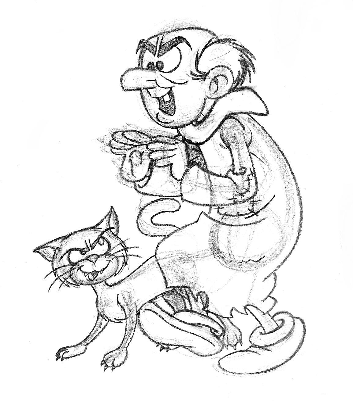 Gargamel free coloring pages - Gargamel dessin ...