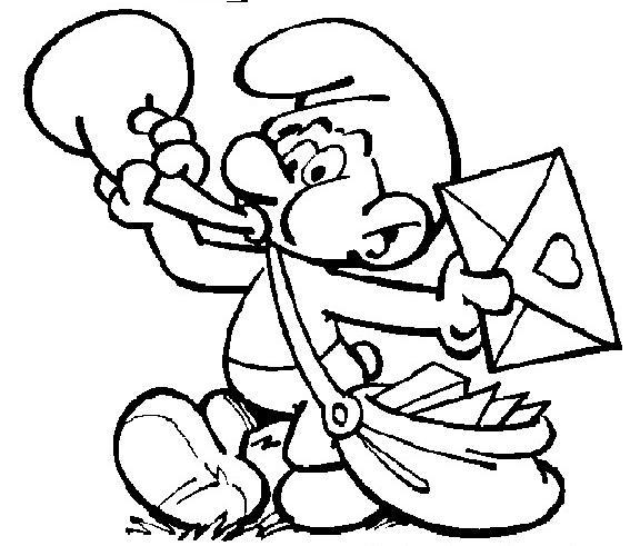 coloriage imprimer personnages clbres les schtroumpfs grand schtroumpf numro 5813 - Coloriage Schtroumpf