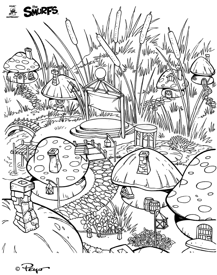 kids coloring pages scenery painting - photo#13