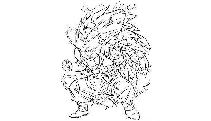 Coloriage imprimer personnages c l bres mangas - Dragon ball z a colorier et imprimer ...