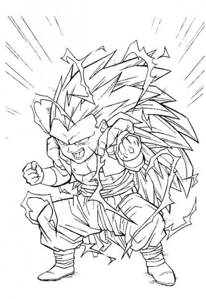 Coloriages à imprimer : Dragon Ball, numéro : 17192