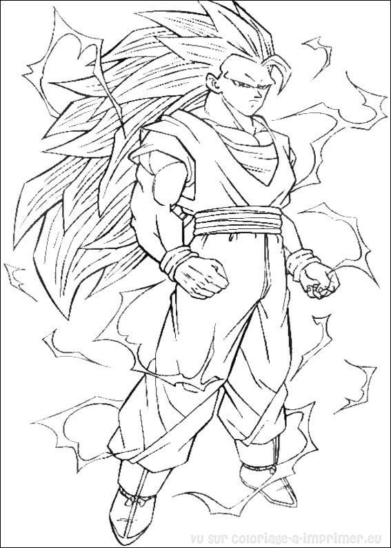 Coloriages 224 Imprimer Dragon Ball Num 233 Ro 17485