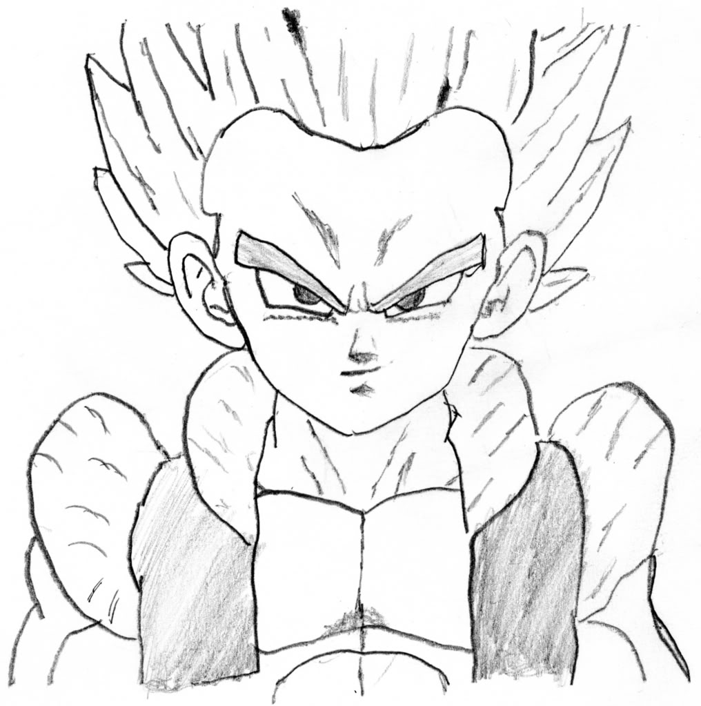 Coloring Pages Goten Super Saiyan Download And Print - Draw Dragon ... | 1023x1016