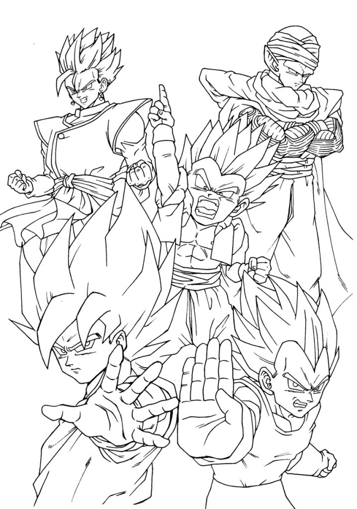 Coloriage A Imprimer Dragon Ball Z Gt