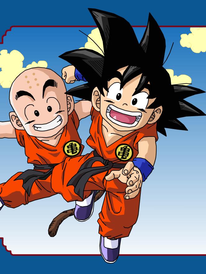 Kid Bulma And Goku Best Friends
