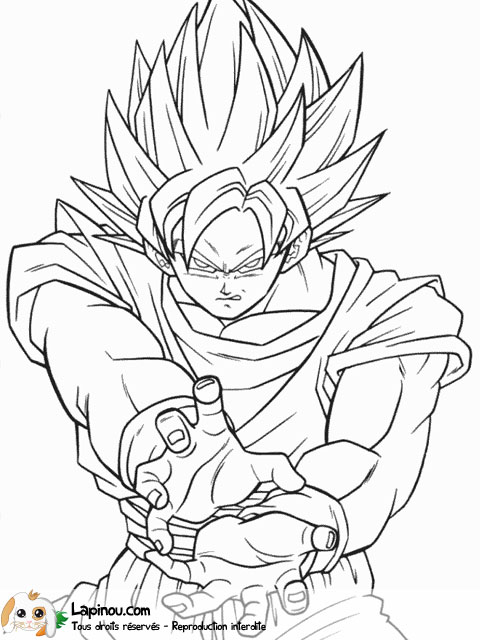 Coloriages imprimer Son Goku num ro 2741