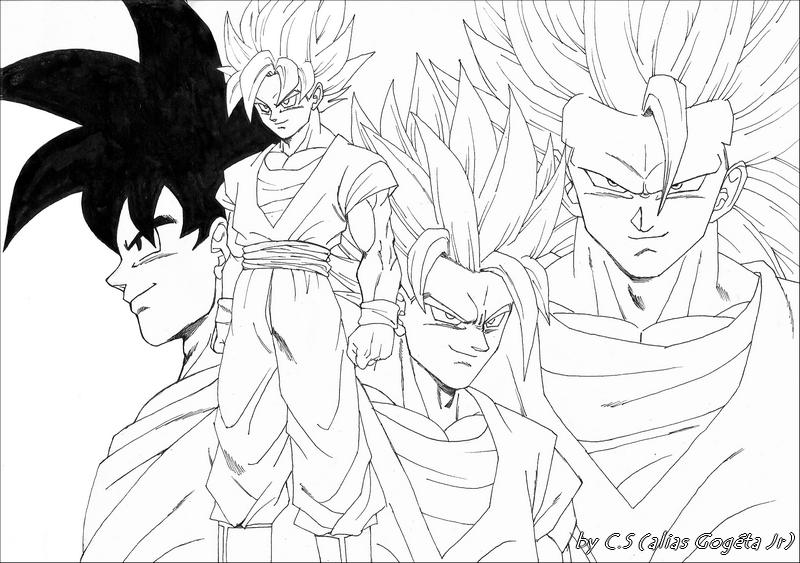 Golden Freezer Para Colorear: Coloriages à Imprimer : Son Goku, Numéro : 43357