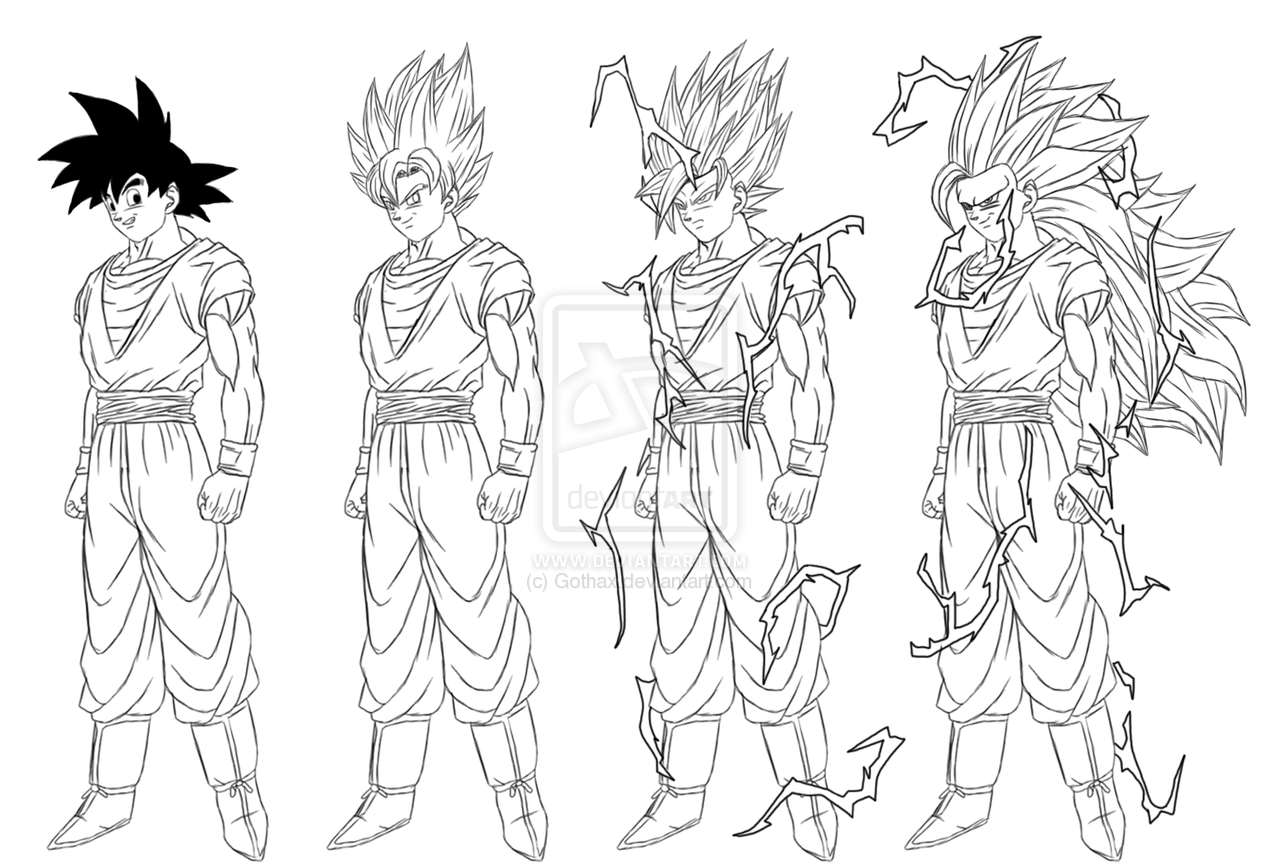 Coloriages imprimer Son Goku