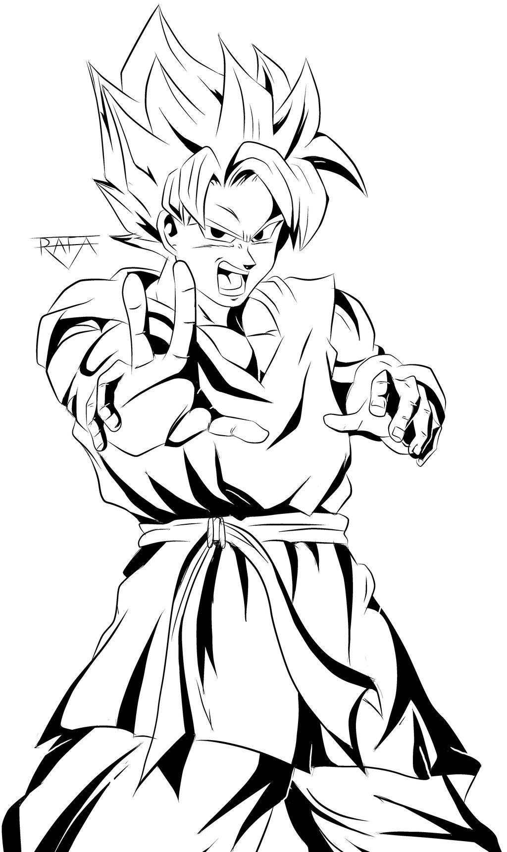 Coloriages 224 Imprimer Son Goku Num 233 Ro 676711