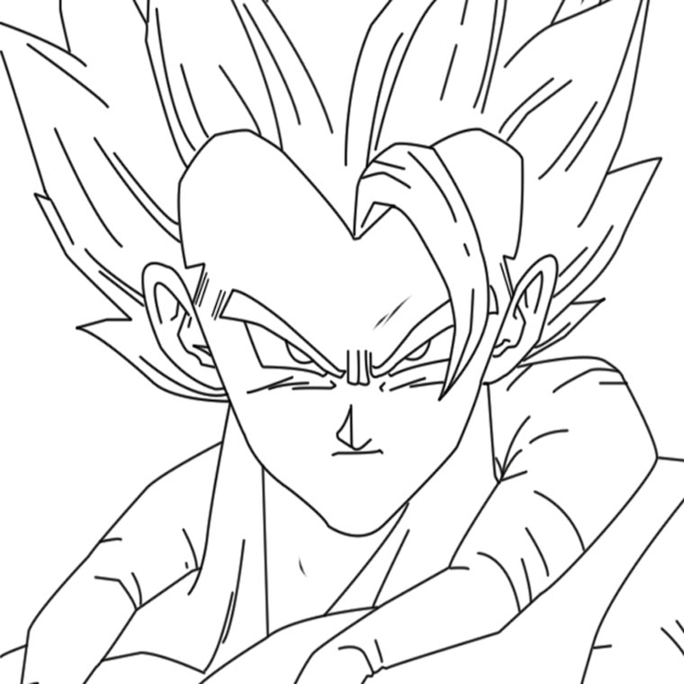 Coloriages imprimer son goku num ro 755281 - Dessin dragon ball z facile ...