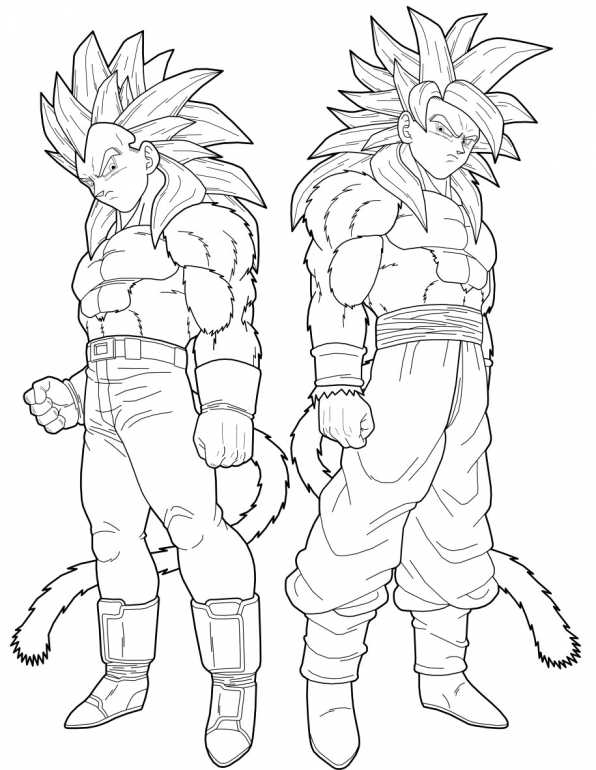 Vegito coloring pages coloring pages - Dessin de dragon ball super ...
