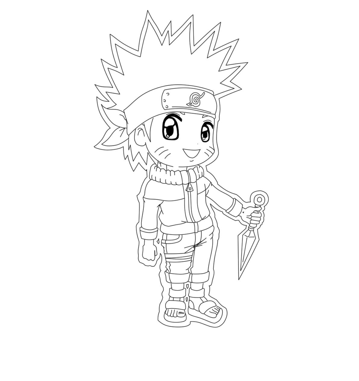 Imprimer le coloriage Personnages celebres Mangas Naruto numéro
