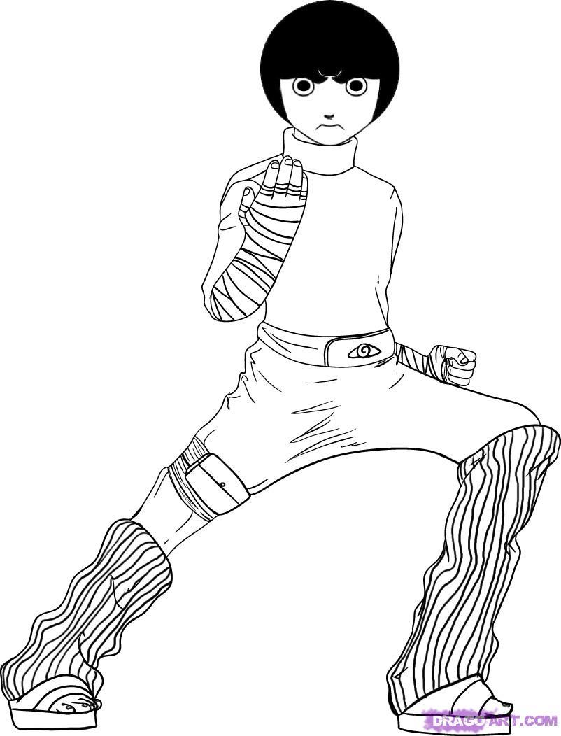 Coloriages imprimer naruto num ro 180834 - Coloriage manga rock ...