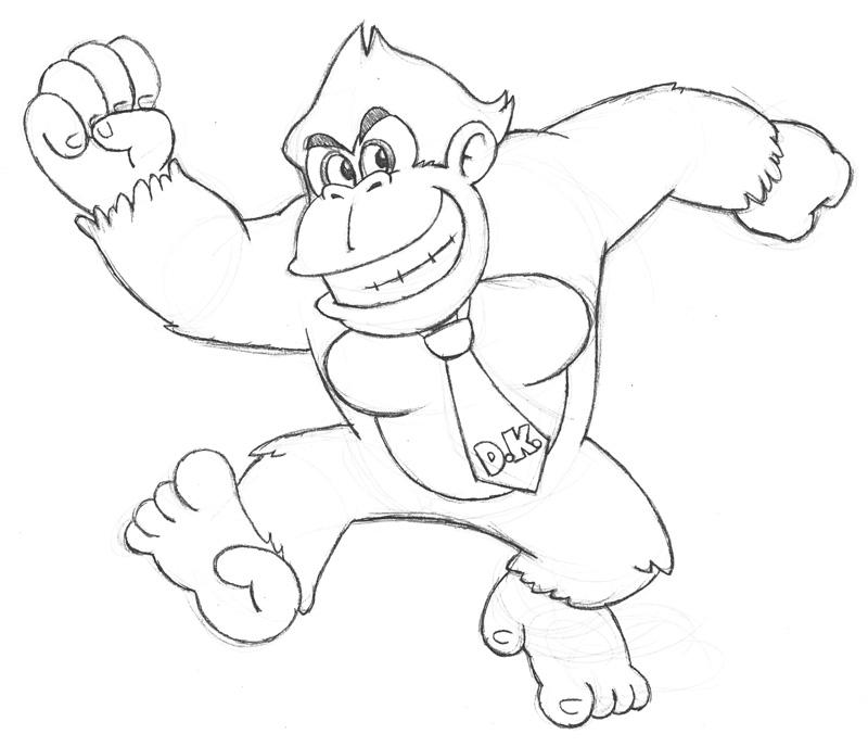 Coloriages 224 Imprimer Donkey Kong Num 233 Ro 15156
