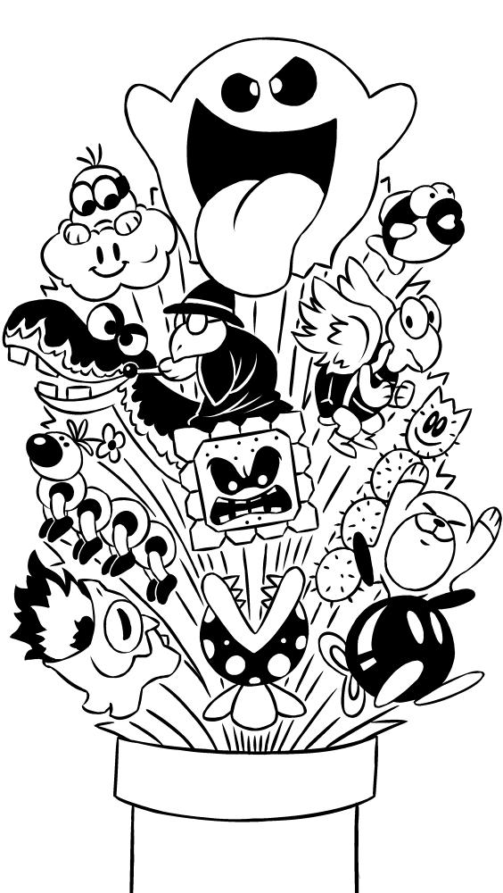 Coloriage Imprimer Personnages Clbres Nintendo