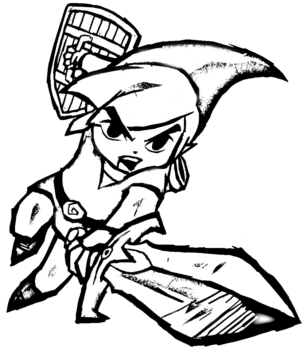 Fine Legend Of Zelda Wind Waker Coloring Pages Ideas - Entry Level ...