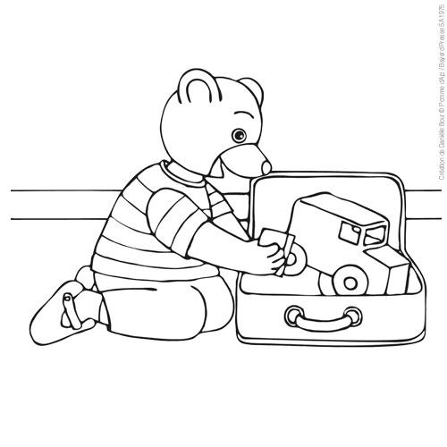 Coloriages à Imprimer Petit Ours Brun Numéro 6249
