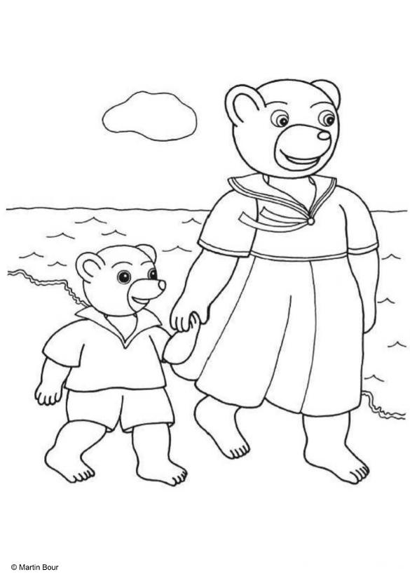 Coloriages imprimer petit ours brun num ro 676794 - Petit ours brun a la mer ...