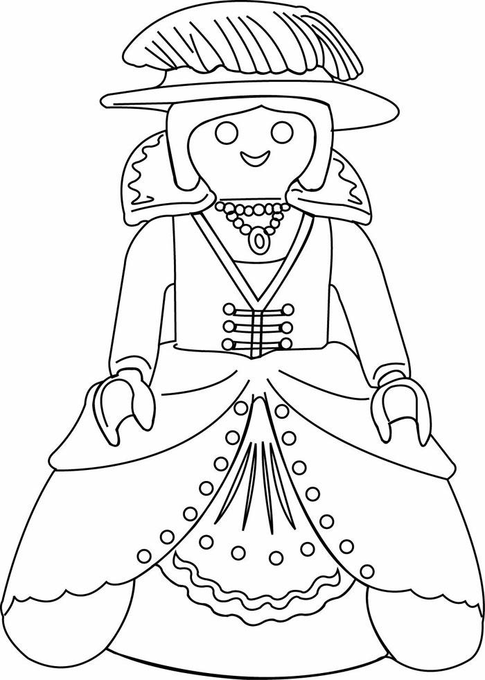 Coloriage à imprimer : Personnages célèbres - Playmobil numéro 29525