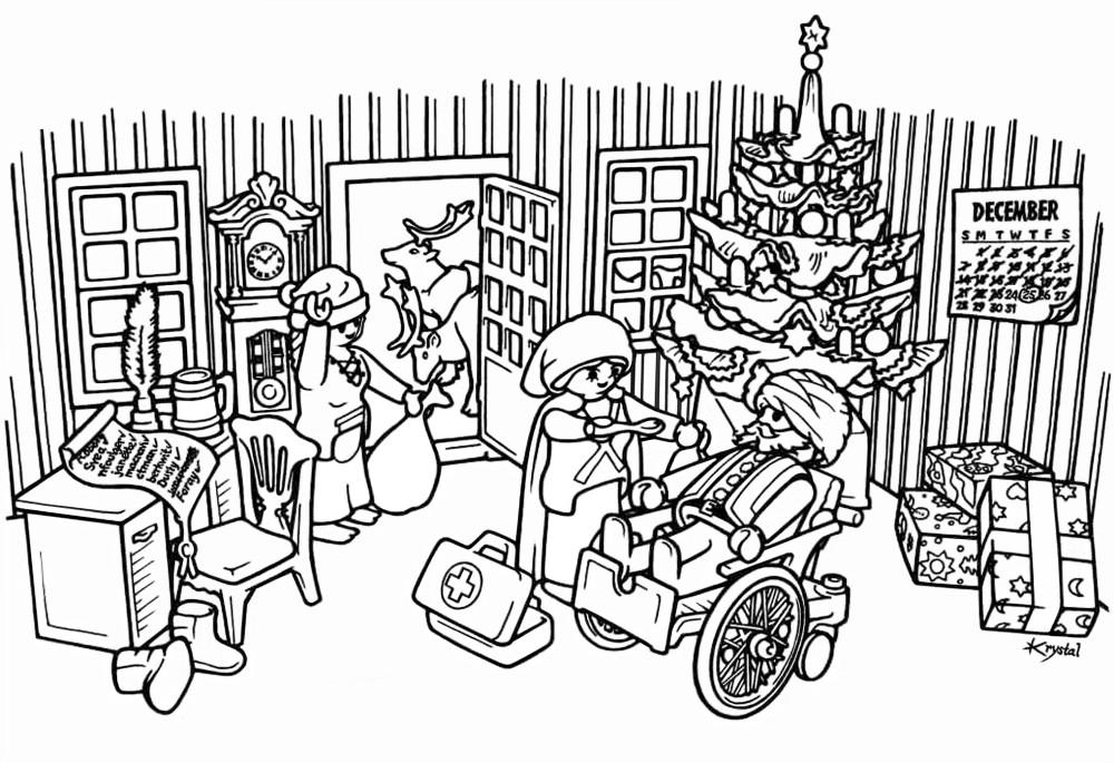 Coloriage à imprimer : Personnages célèbres - Playmobil numéro 66284